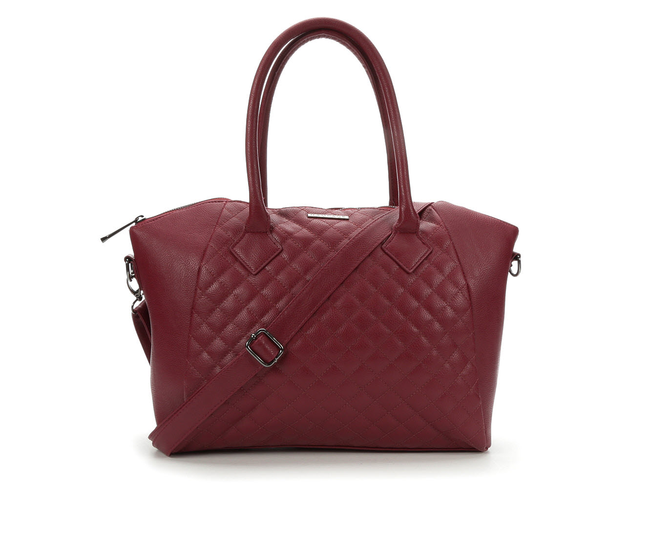 Rampage Quilted Satchel Crossbody (Red)