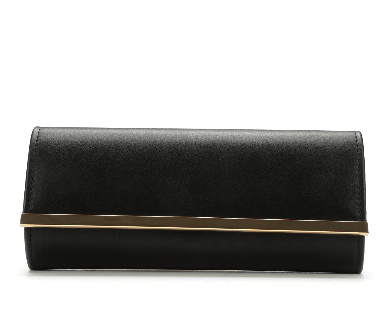 Four Seasons Handbags Faux Leather Evening Clutch (Black)