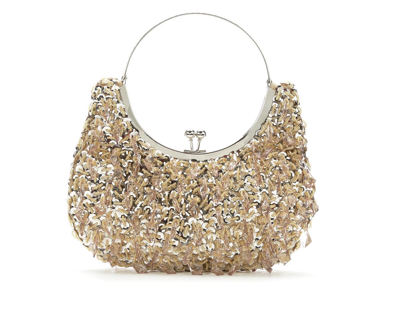 LLorraine Chandelier Frame Evening Handbag (Gold)