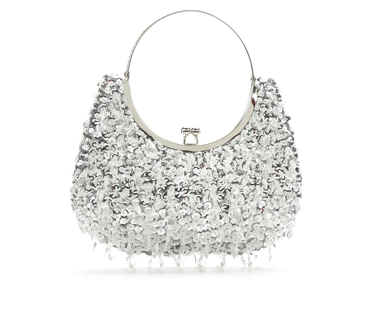 LLorraine Chandelier Frame Evening Handbag (Silver)