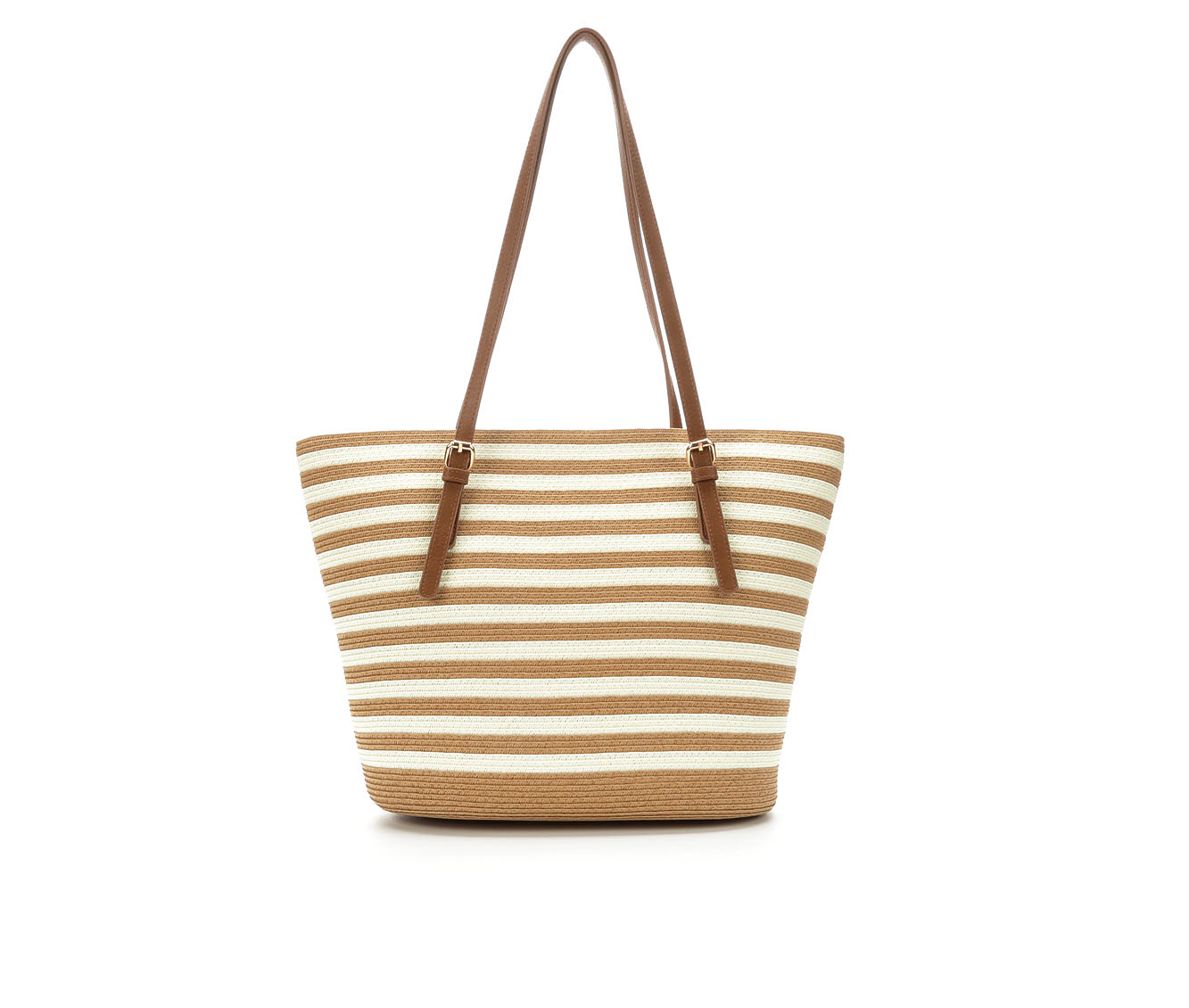 Bueno Of California Papered Straw Tote Handbag (Beige)