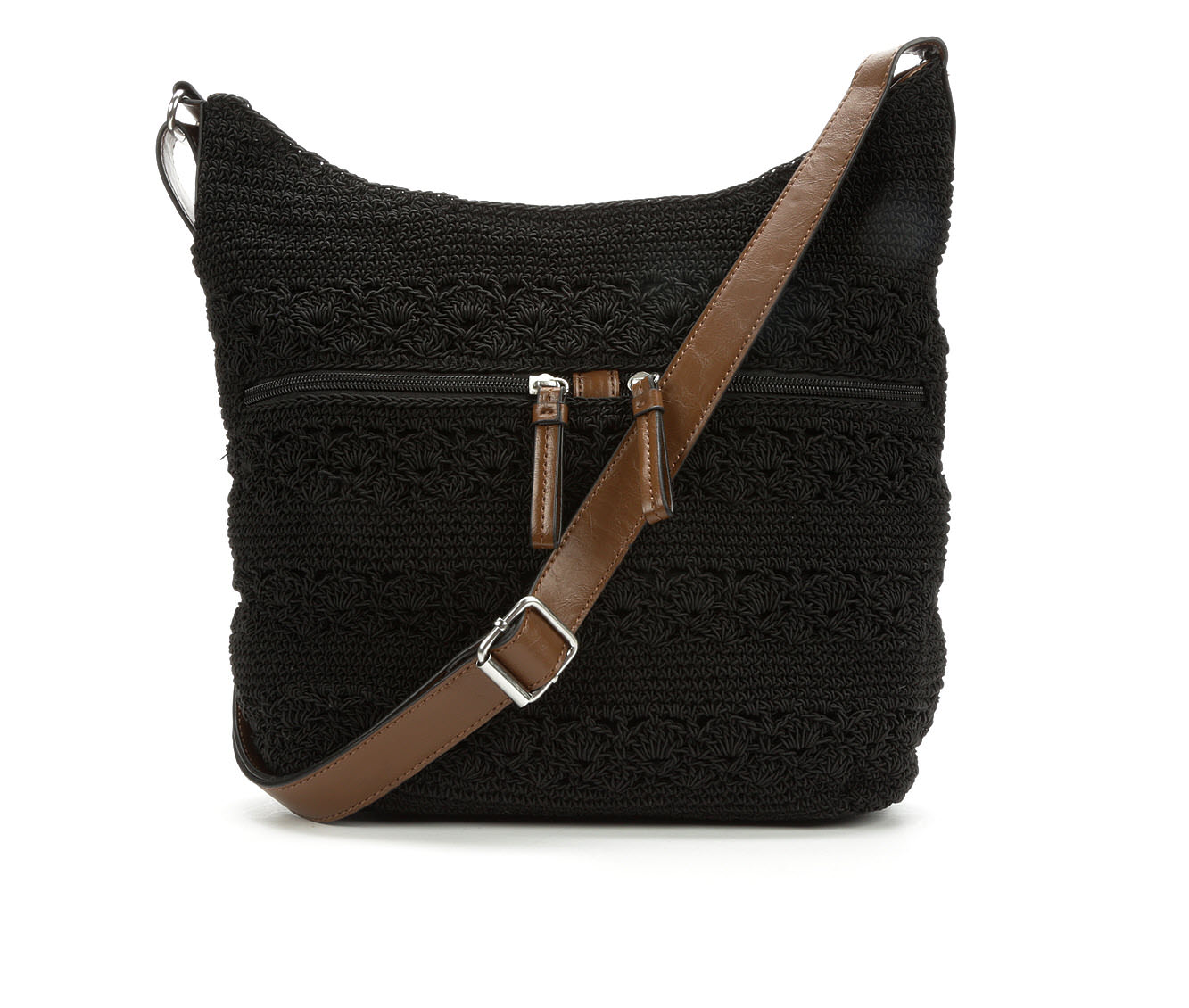 Bueno Of California Rayon Crochet Crossbody (Black)