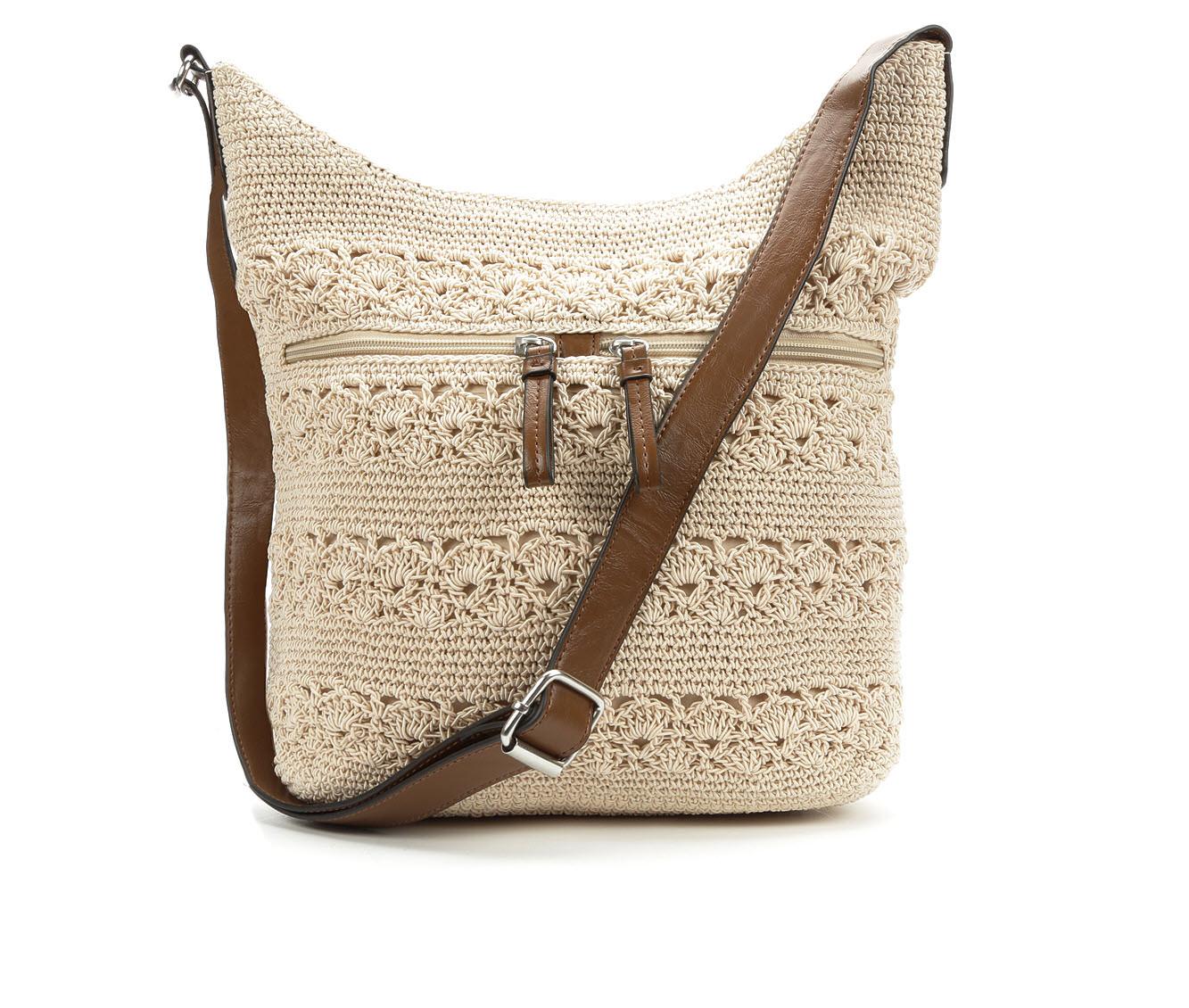 Bueno Of California Rayon Crochet Crossbody (Beige)