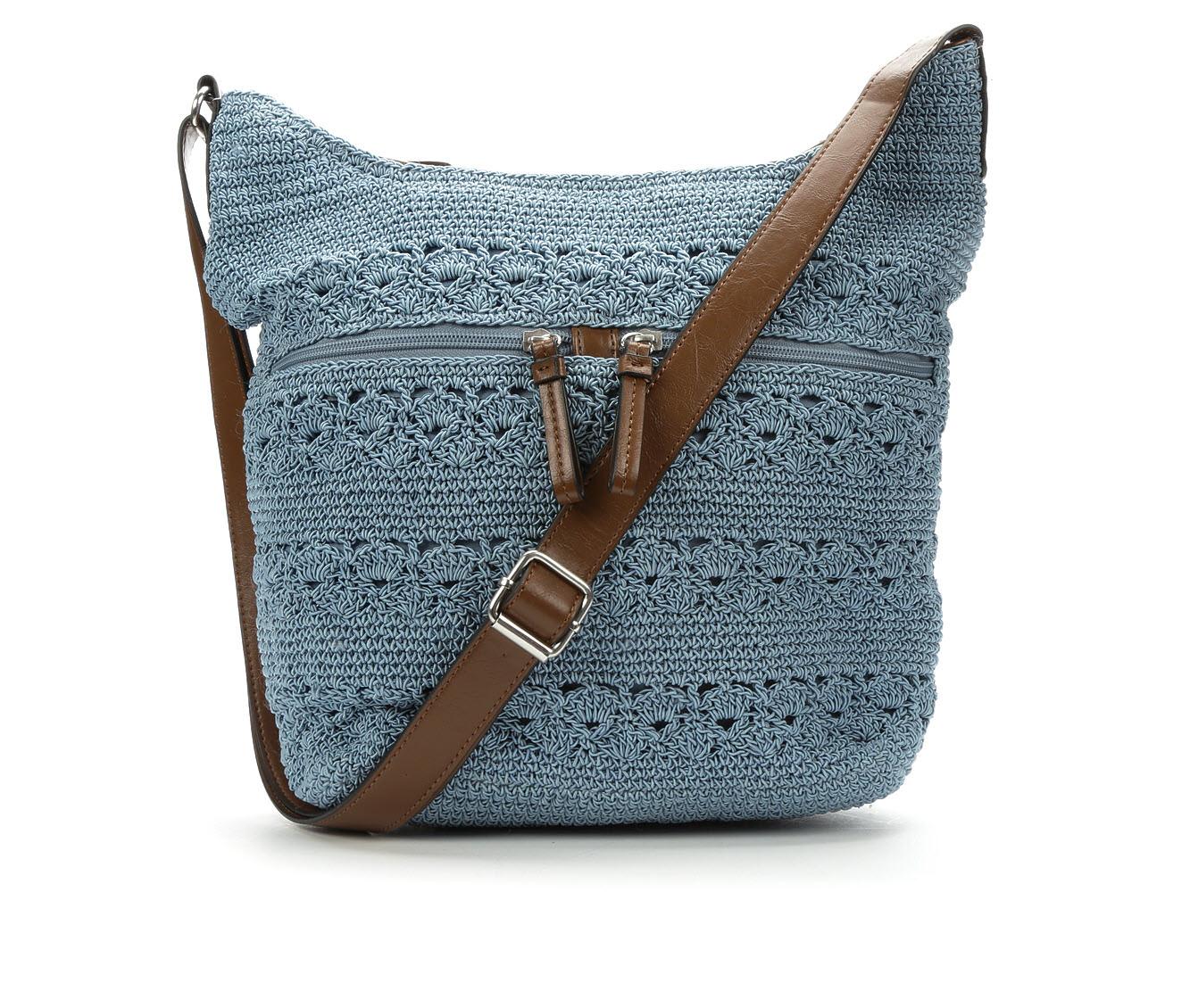 Bueno Of California Rayon Crochet Crossbody (Blue)