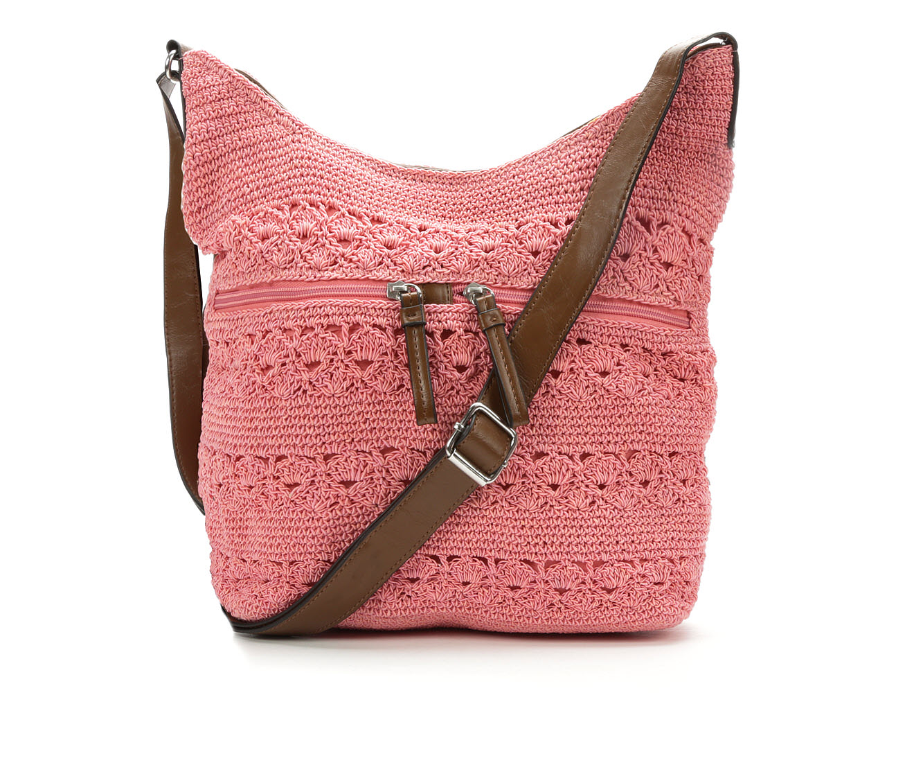 Bueno Of California Rayon Crochet Crossbody (Pink)