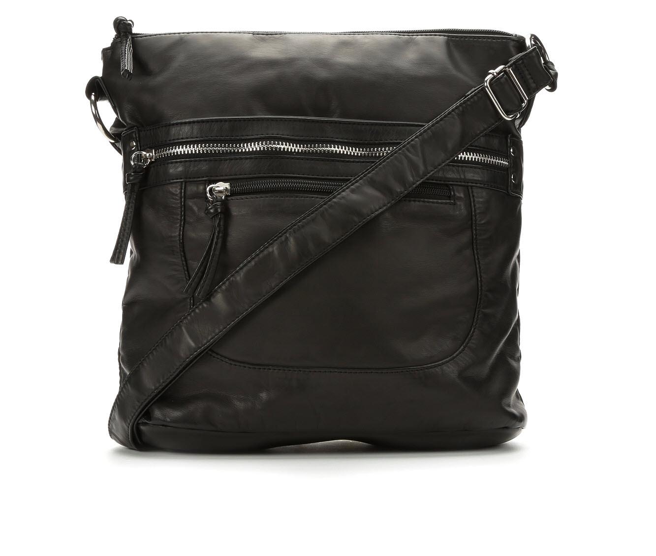 Image of Bueno Of California Washed Crossbody Handbag (Black - Size UNSZ)