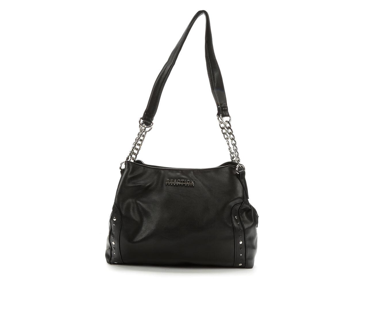 Kenneth Cole Reaction Berry Satchel Handbag (Black)
