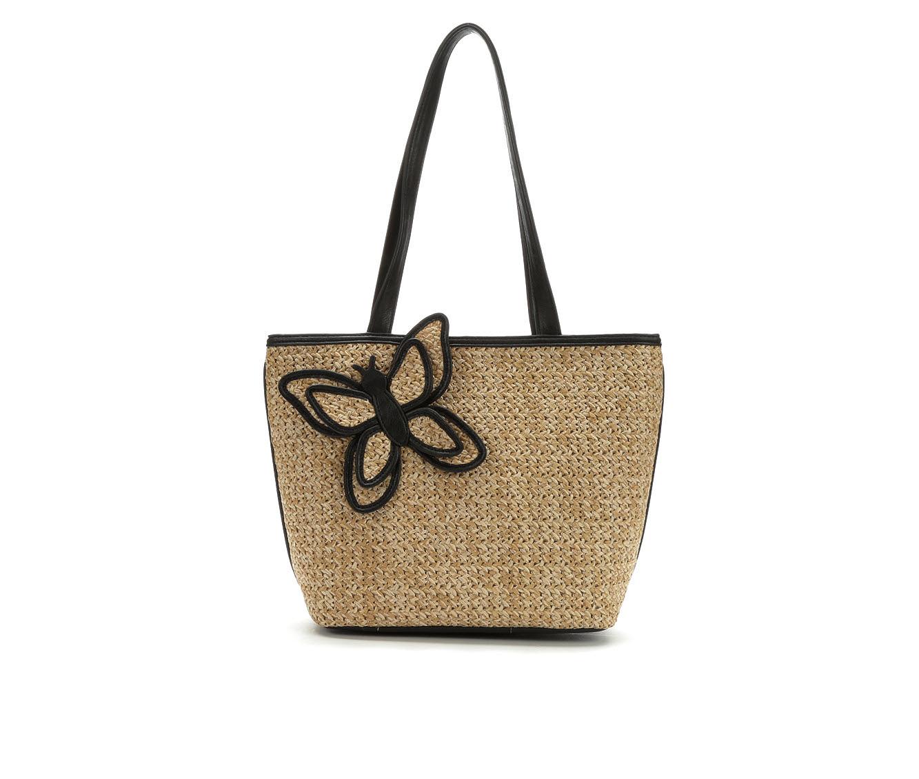 Bueno Of California Straw Tote Handbag (Brown)
