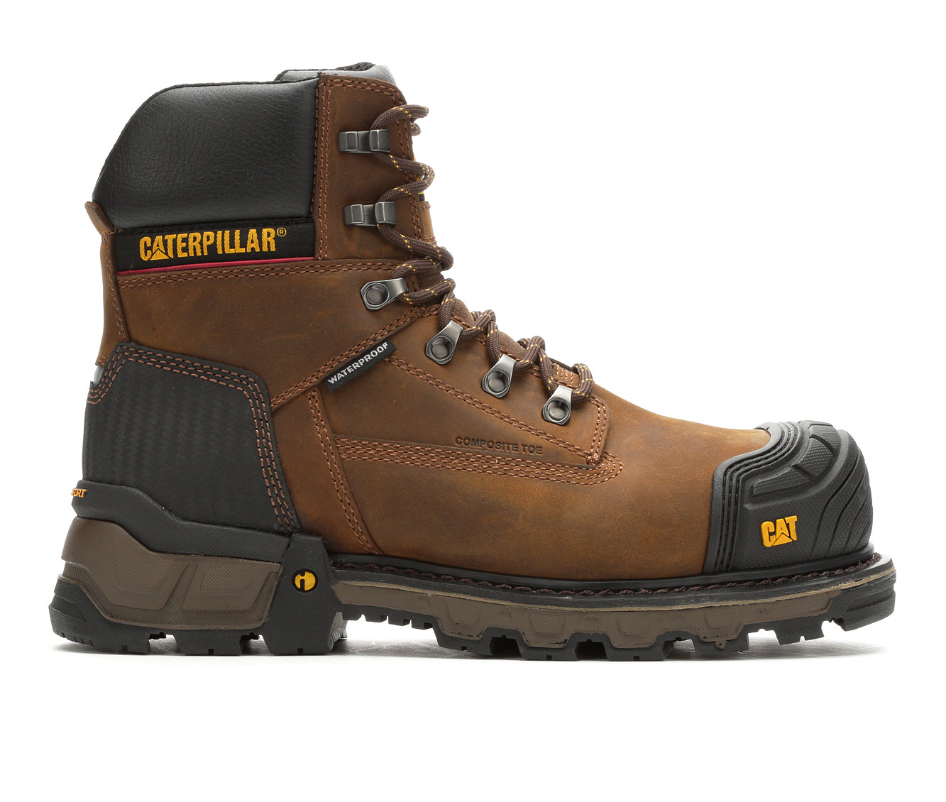 "Image of ""Men's Caterpillar Excavator 6"""" Waterproof Composite Toe Boots (Brown - Size 13)"""