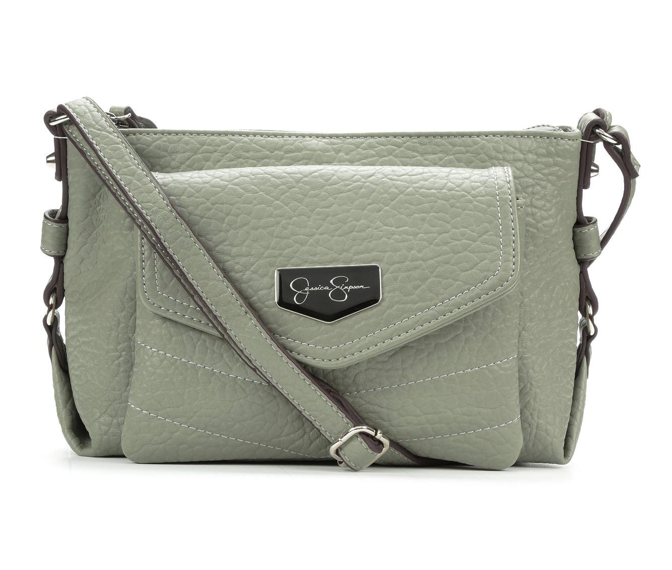 Jessica Simpson Jenita Top Zip Crossbody (Green)