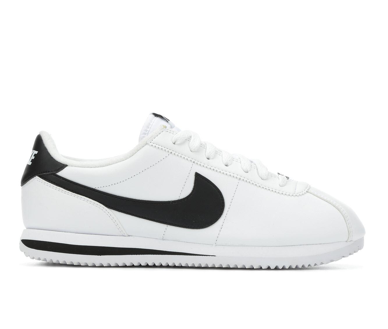 Nike Cortez Basic Leather Men's Athletic Shoe (White - Size ...