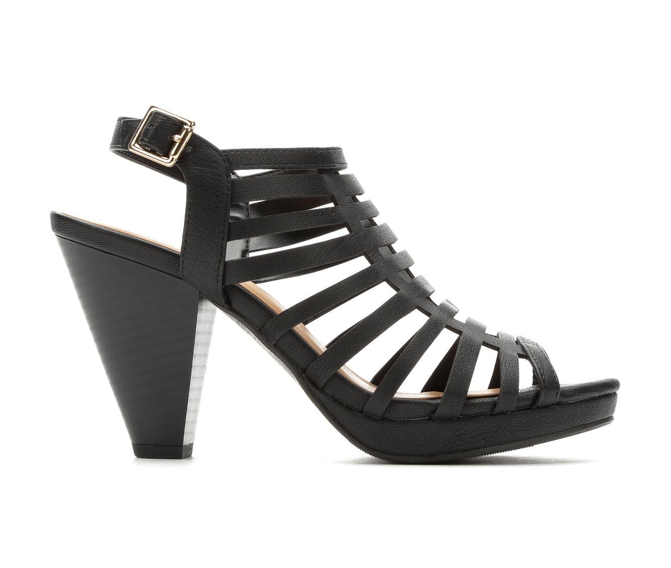 Solanz Kendall Women's Dress Shoe (Black Faux Leather)