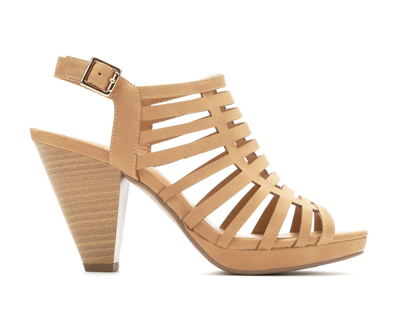 Solanz Kendall Women's Dress Shoe (Brown Faux Leather)