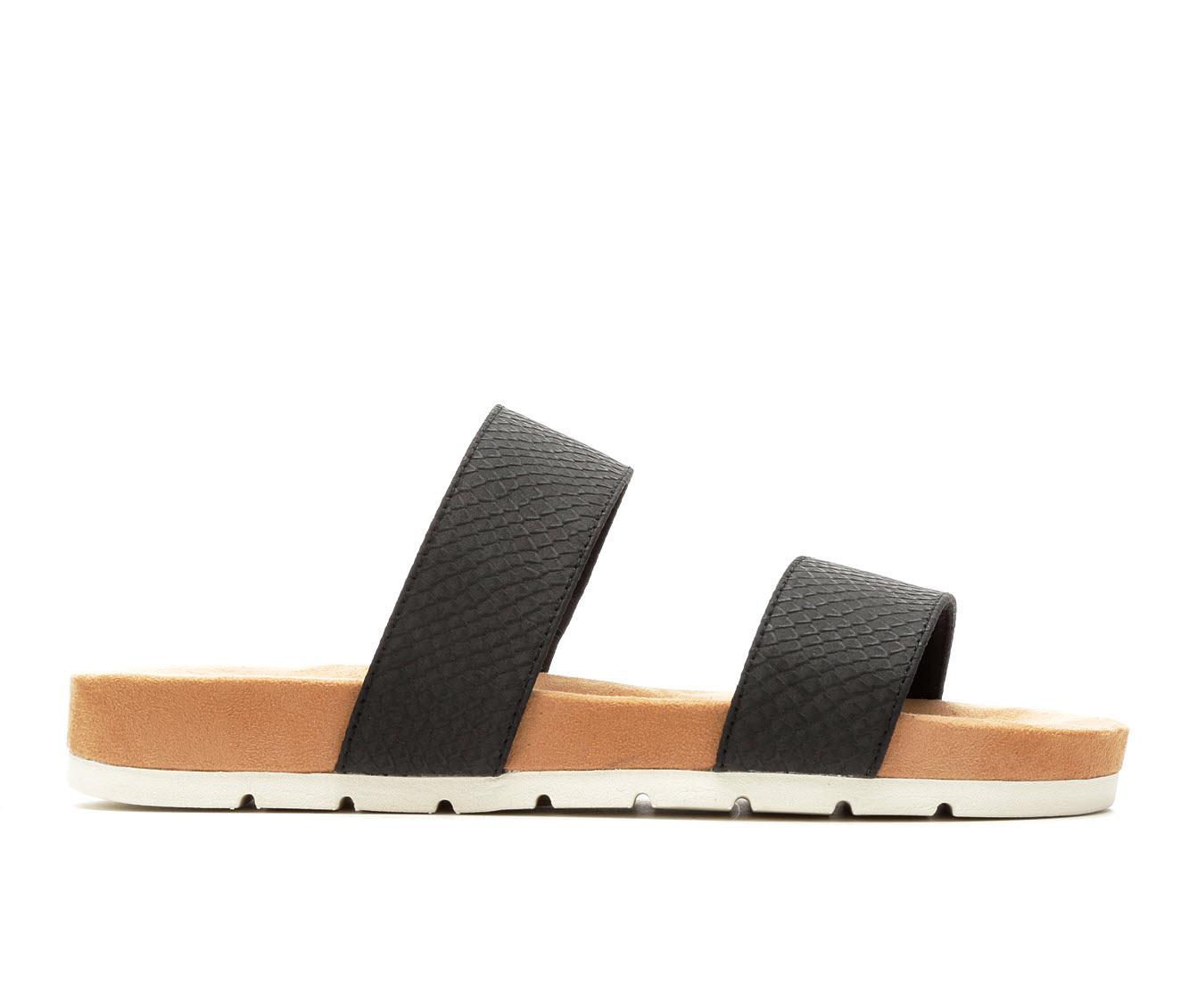 Cliffs Tahlie Women's Sandal (Black Faux Leather)