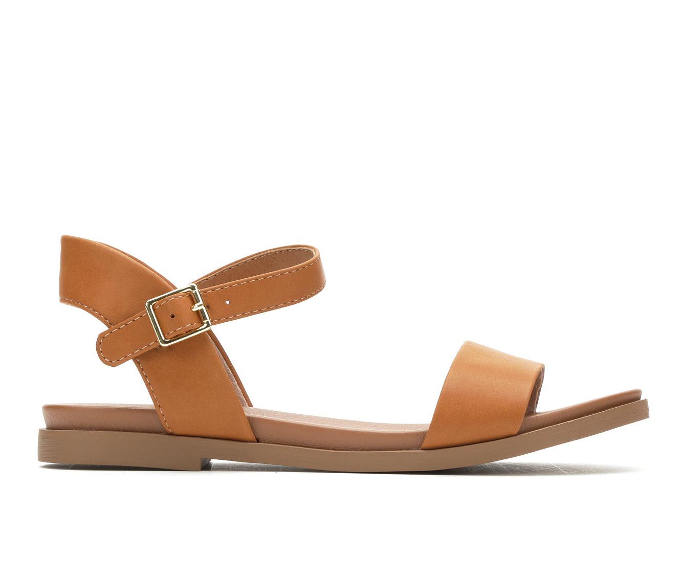 Solanz Meadow Women's Sandal (Brown Faux Leather)