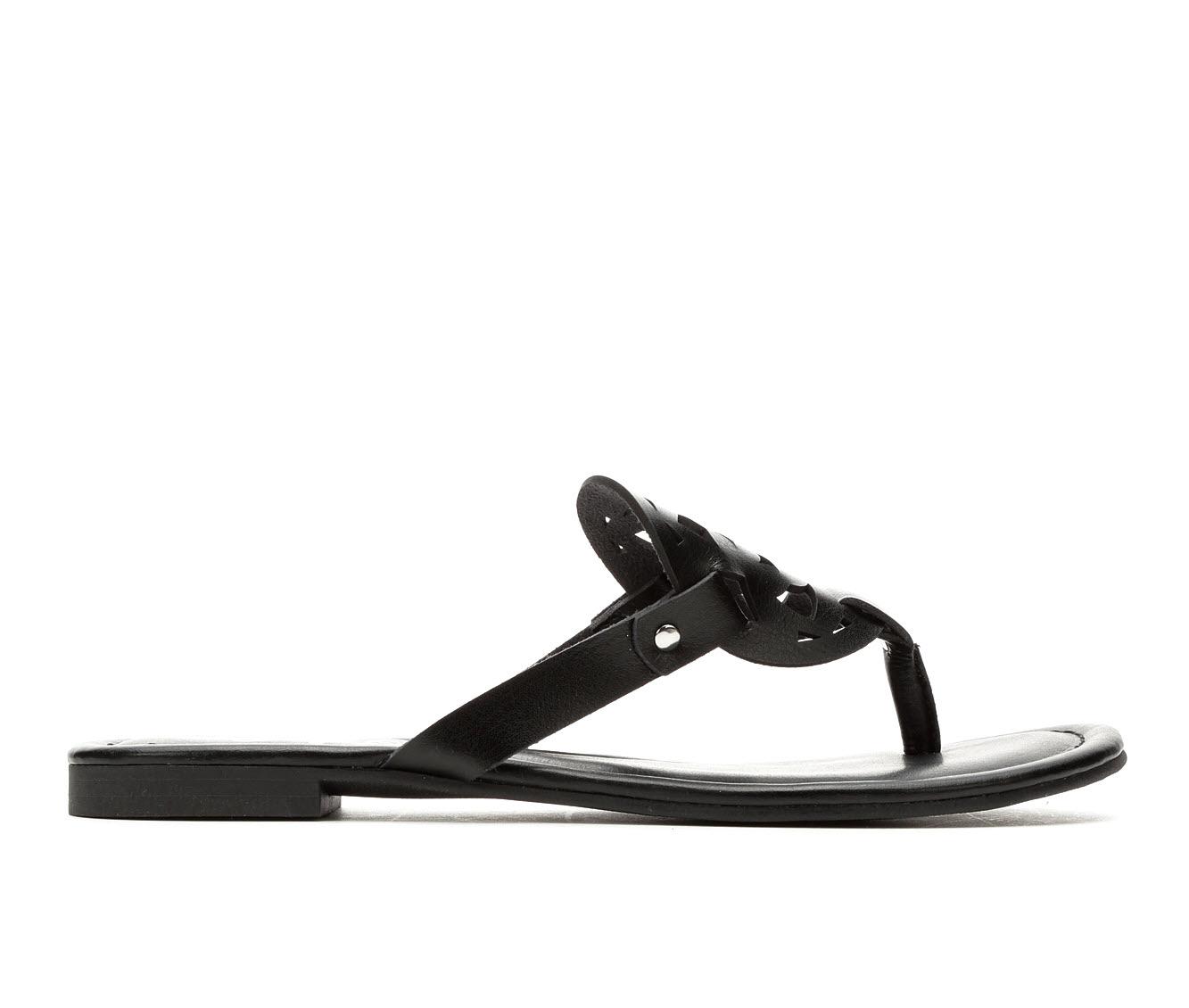 Vintage 7 Eight Caryn Women's Sandal (Black Faux Leather)