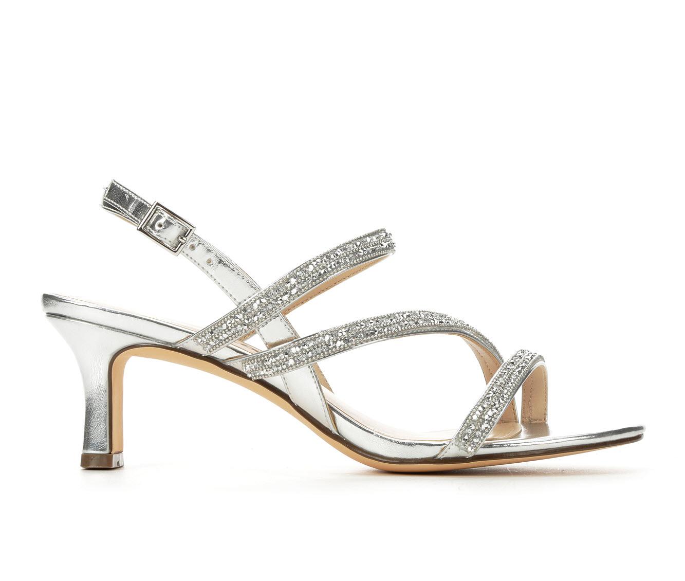 Touch Of Nina Nikol Women's Dress Shoe (Silver Canvas)