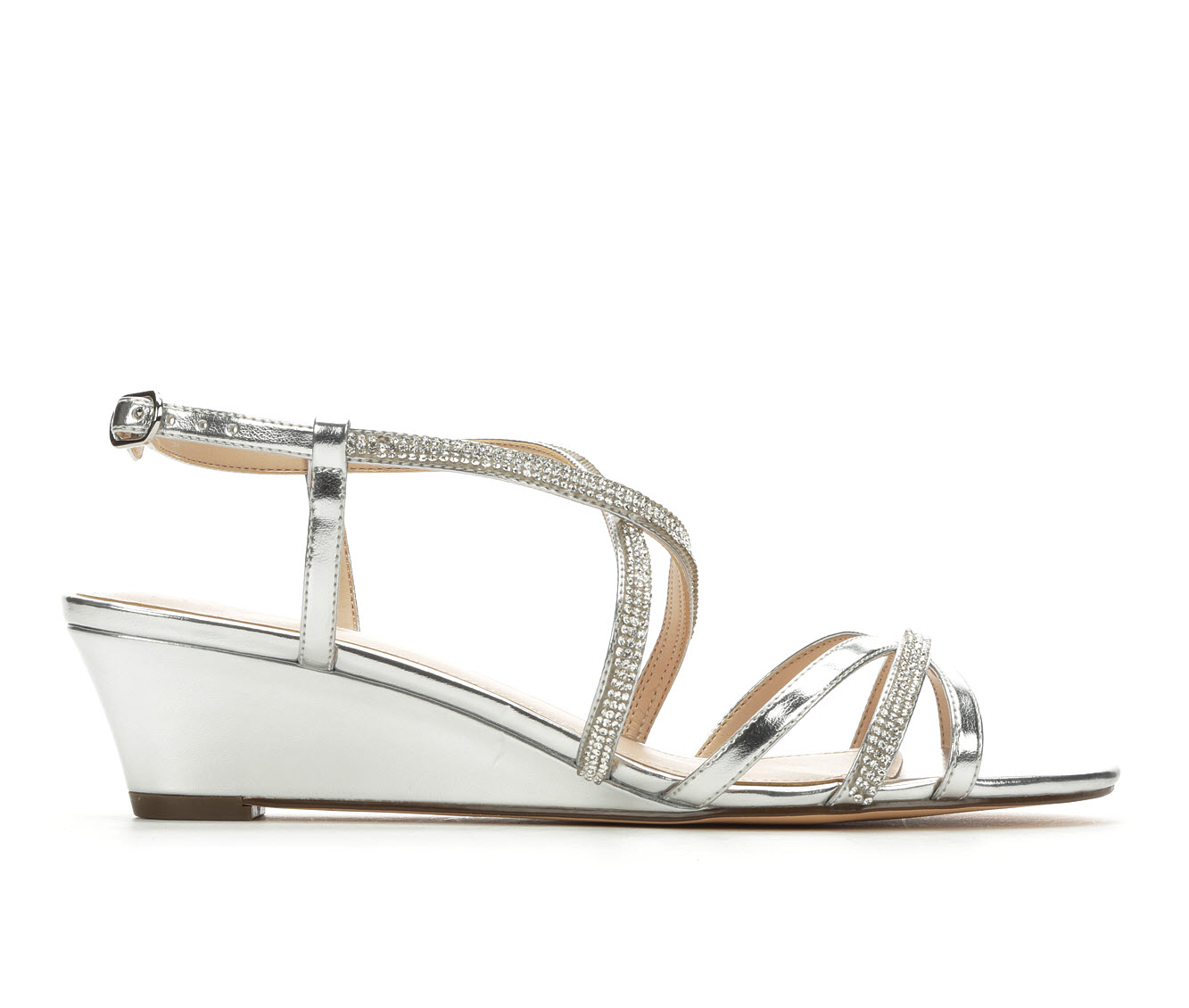 Touch Of Nina Freeda Women's Dress Shoe (Silver Faux Leather)