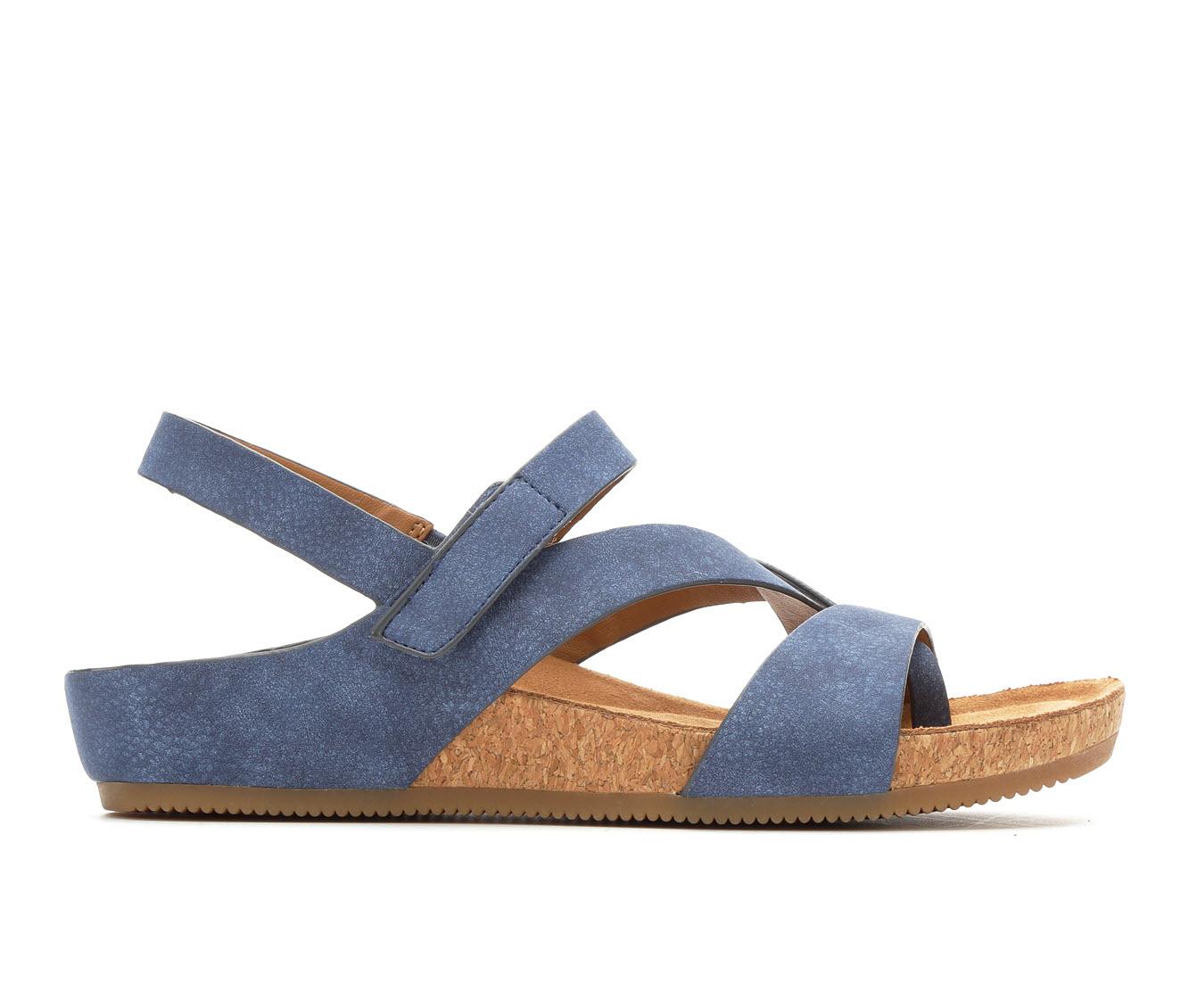 EuroSoft Gianetta Women's Sandal (Blue Faux Leather)