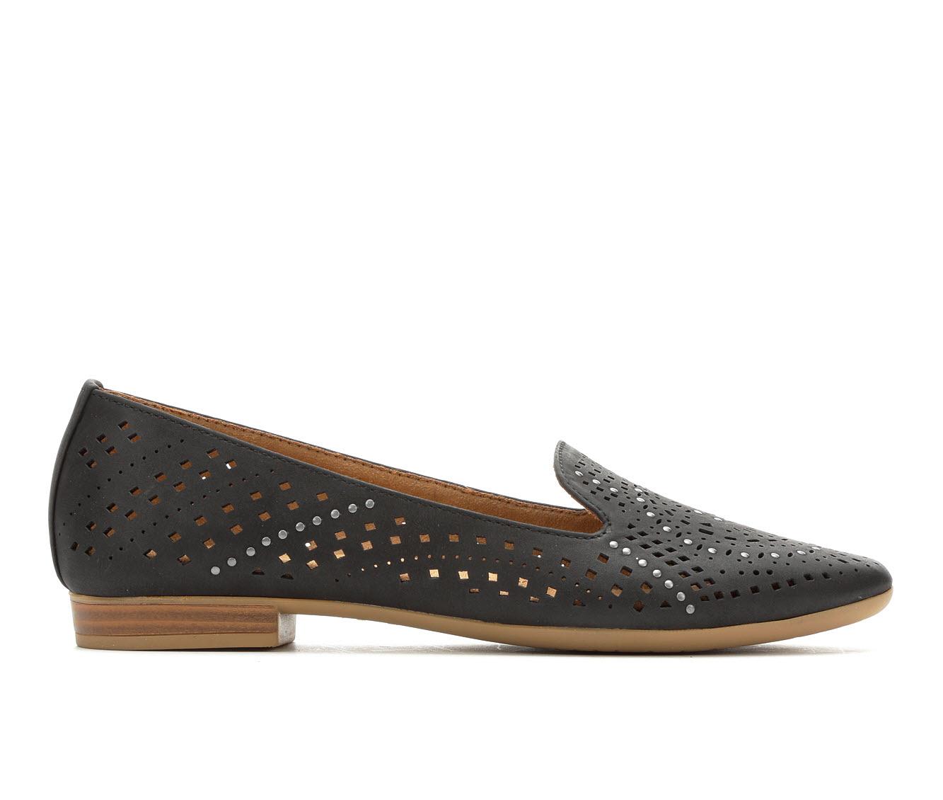 Vintage 7 Eight Rose Women's Shoe (Black Faux Leather)