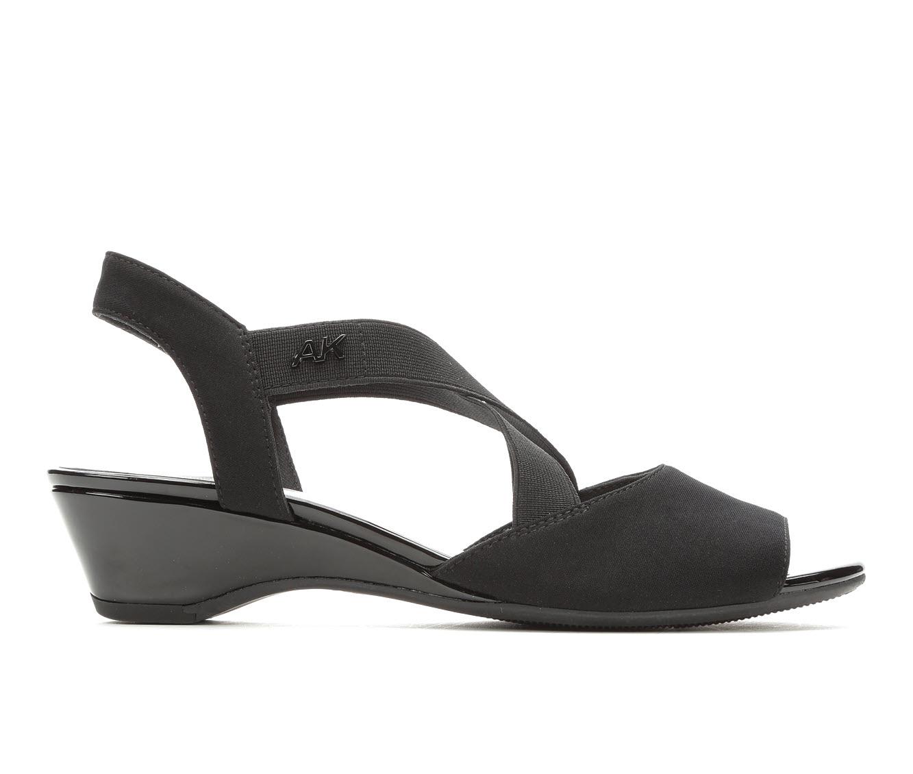Anne Klein Sport Meme Women's Dress Shoe (Black Canvas)