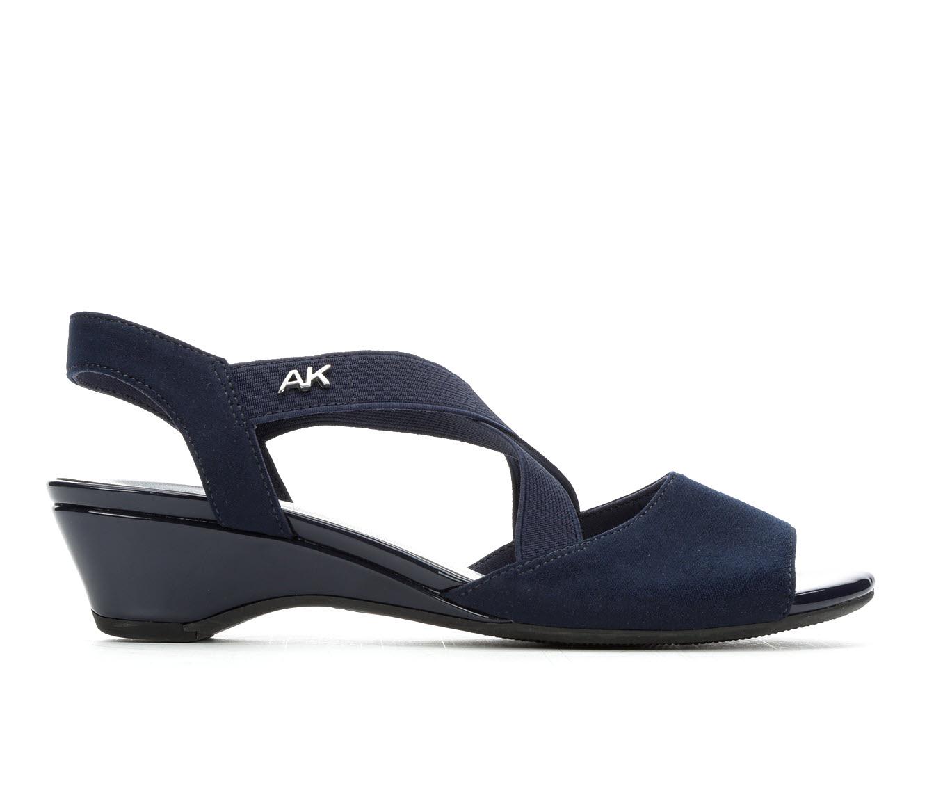 Anne Klein Sport Meme Women's Dress Shoe (Blue Canvas)