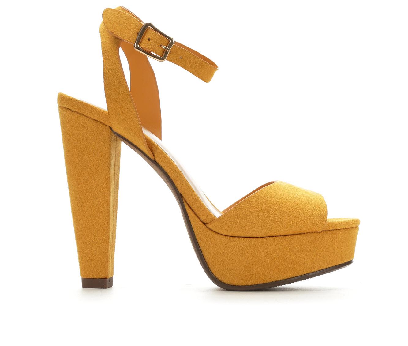 Delicious Purify Women's Dress Shoe (Yellow Canvas)