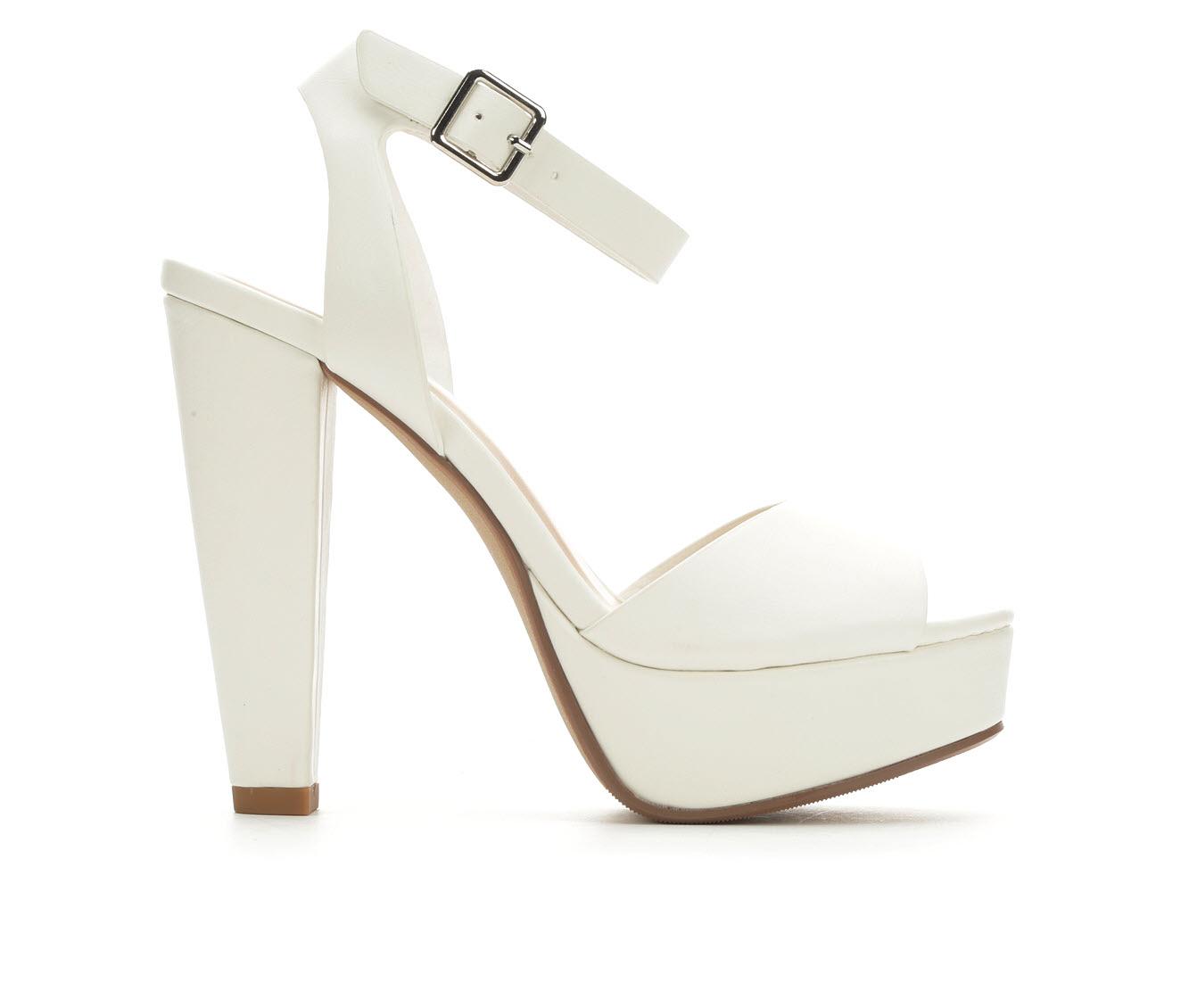 Delicious Purify Women's Dress Shoe (White Faux Leather)