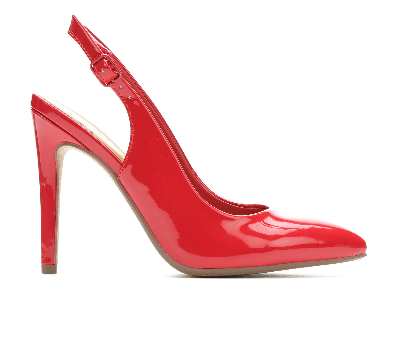 Delicious Carly Women's Dress Shoe (Red Faux Leather)