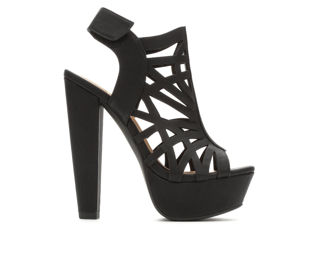 Delicious Factor Women's Dress Shoe (Black Faux Leather)