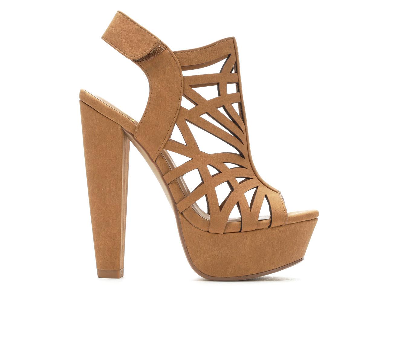 Delicious Factor Women's Dress Shoe (Beige Faux Leather)