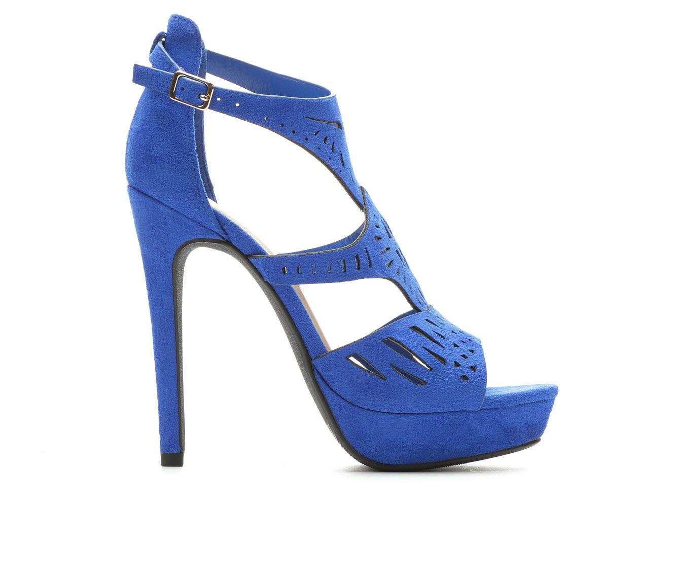 Delicious Abagale Women's Dress Shoe (Blue Canvas)