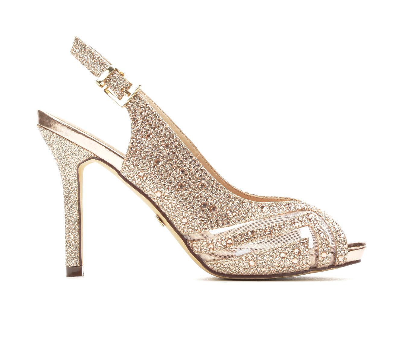 LLorraine Pearl Women's Dress Shoe (Gold Canvas)