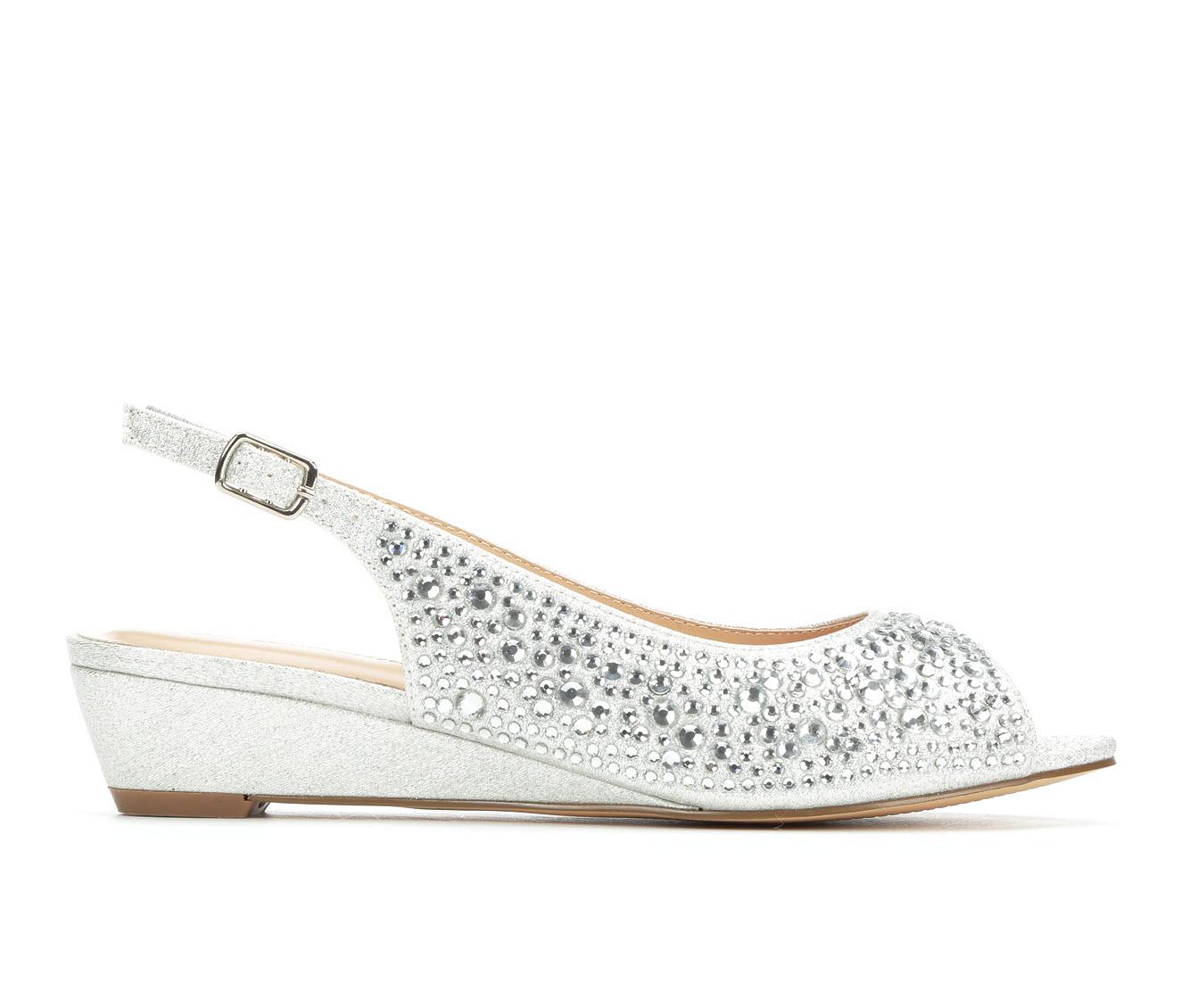 LLorraine Justine Women's Dress Shoe (Silver Canvas)