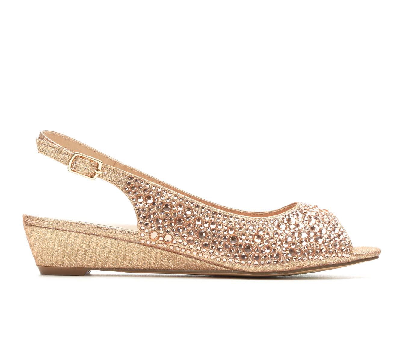 LLorraine Justine Women's Dress Shoe (Gold Canvas)