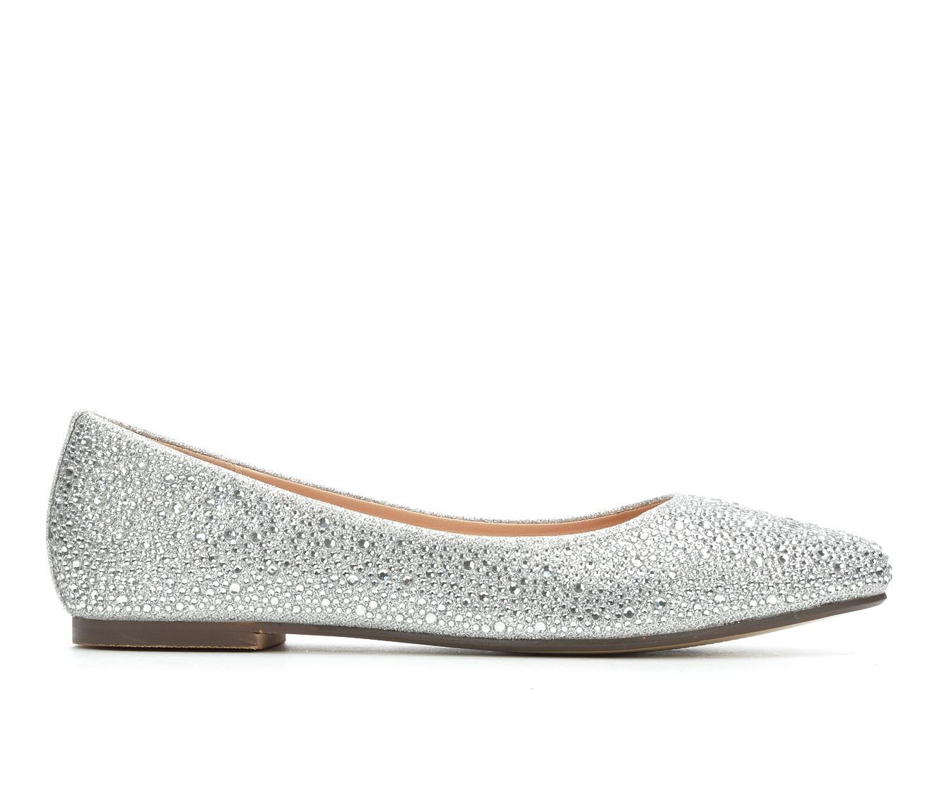 LLorraine Kitty Women's Dress Shoe (Silver Canvas)