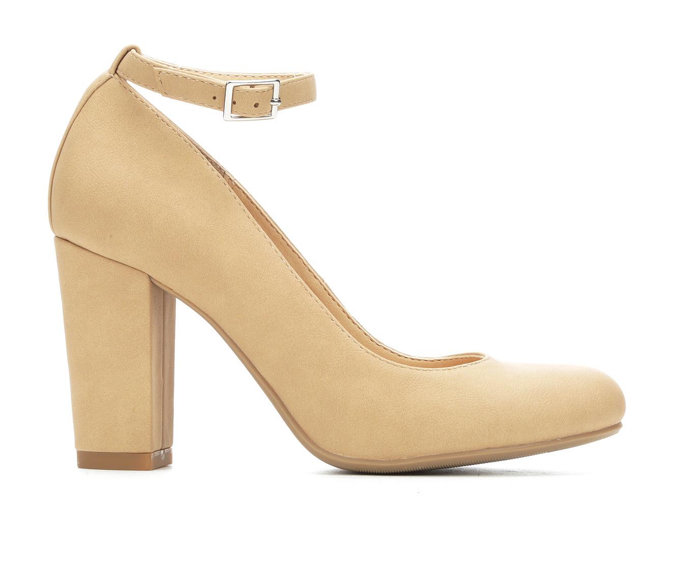 Y-Not Smith Women's Dress Shoe (Beige Faux Leather)