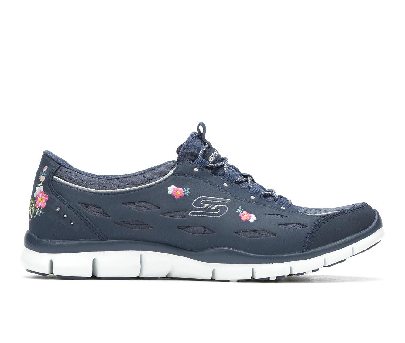 Skechers Divine Bloom 23775 Women's Athletic Shoe (Blue)