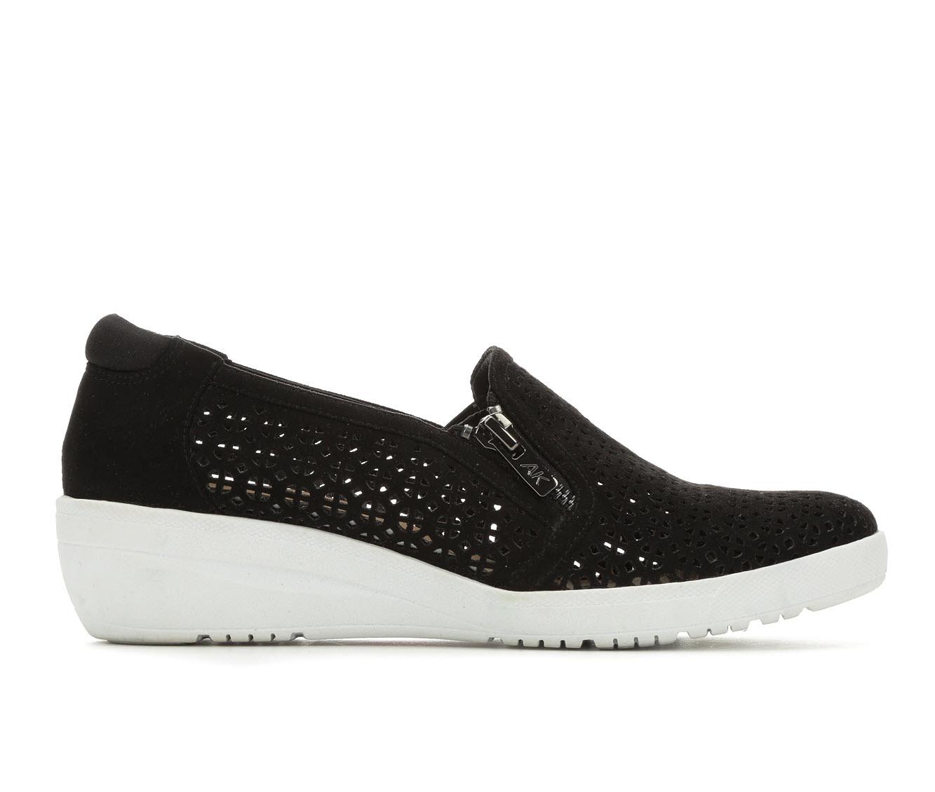 Anne Klein Sport Yepa Women's Shoe (Black Faux Leather)