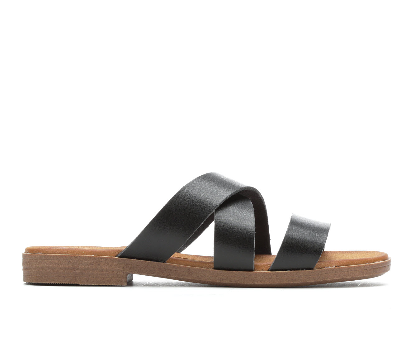 Jellypop Constance Women's Sandal (Black Faux Leather)