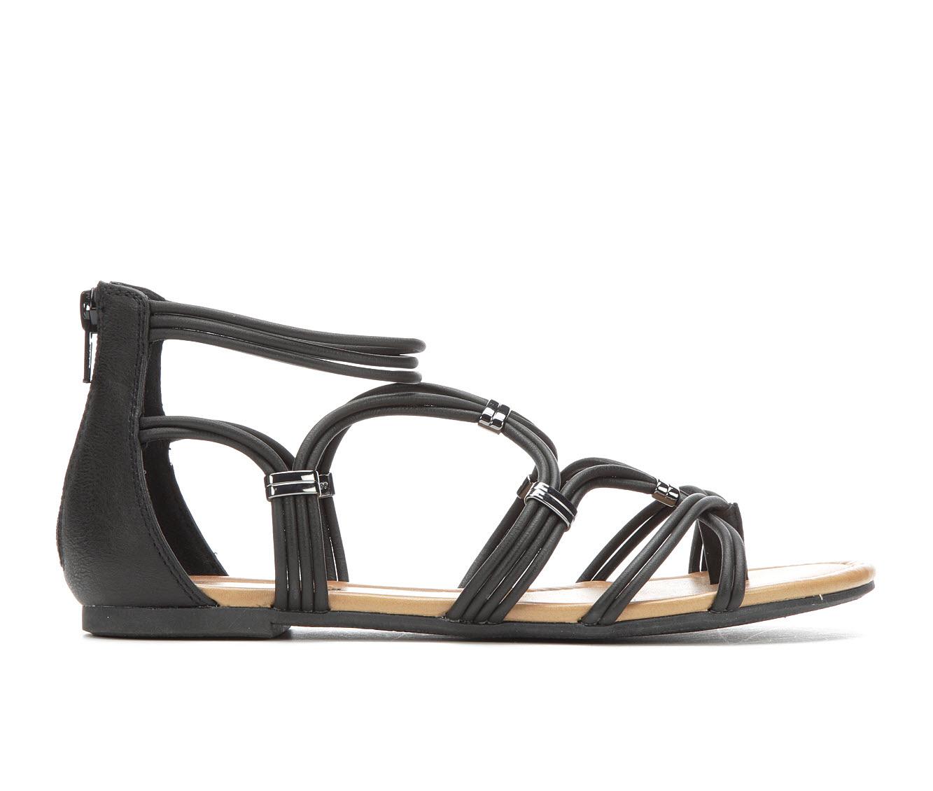 Makalu Laya Women's Sandal (Black Faux Leather)