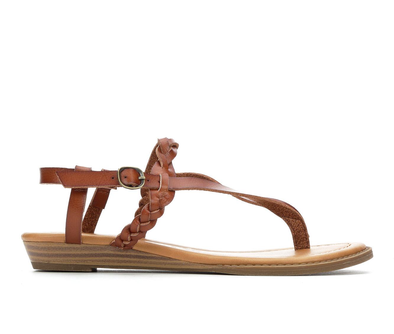 Blowfish Malibu Berg-B Women's Sandal (Brown Faux Leather)