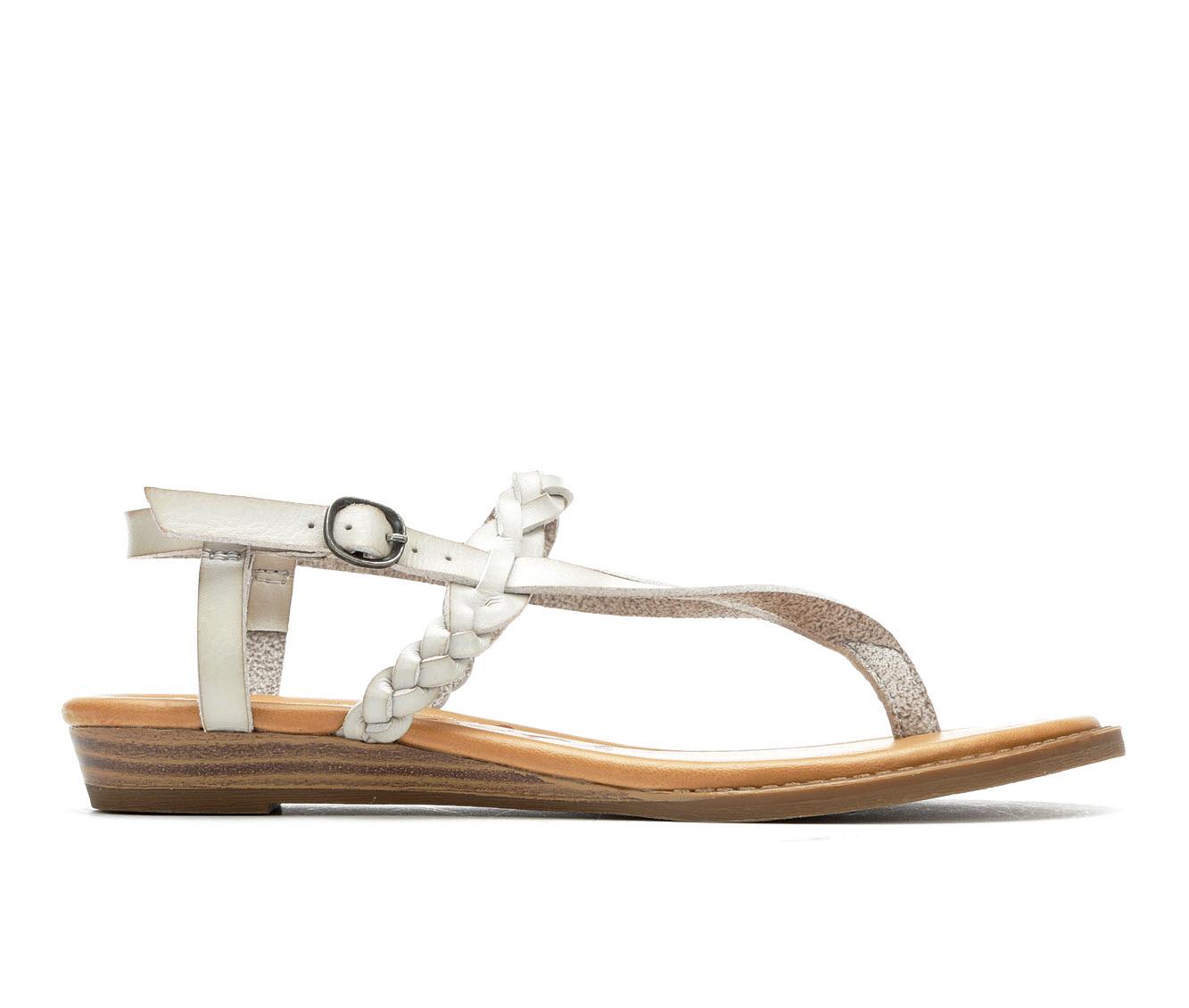 Blowfish Malibu Berg-B Women's Sandal (Gray Faux Leather)