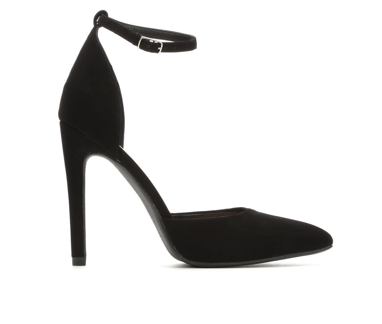 Delicious Unload Women's Dress Shoe (Black Faux Leather)