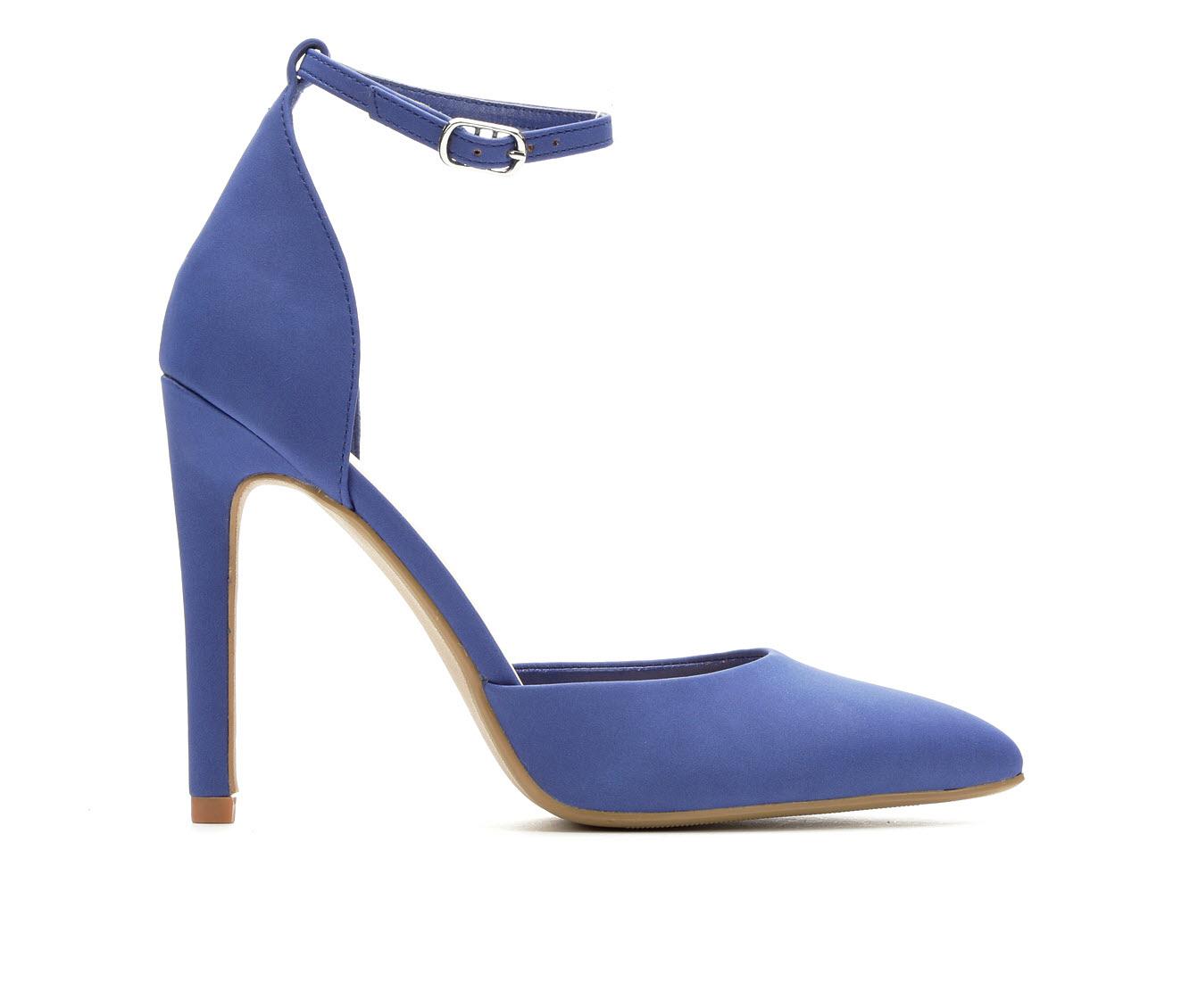 Delicious Unload Women's Dress Shoe (Blue Faux Leather)