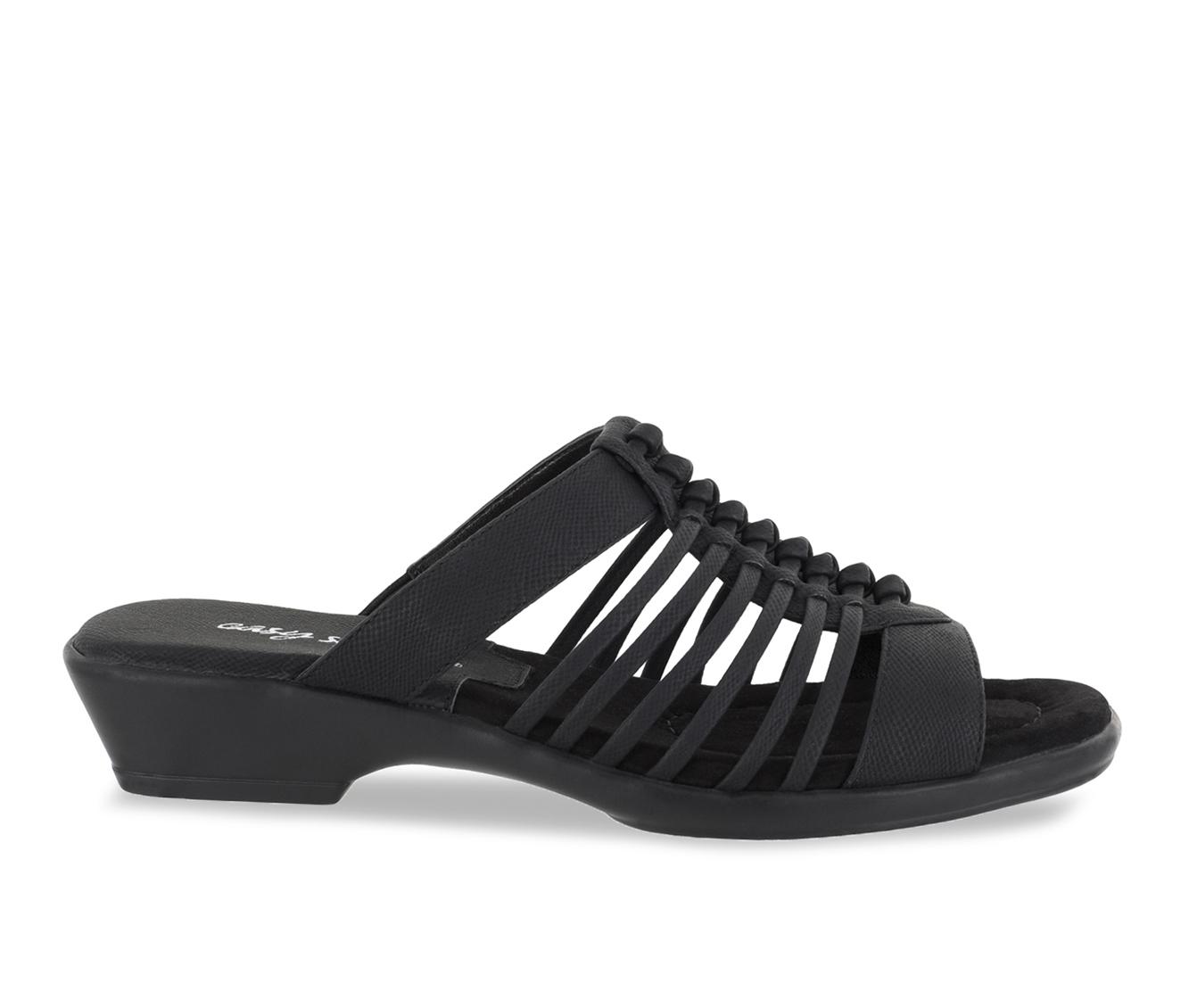Easy Street Nola Women's Sandal (Black Faux Leather)