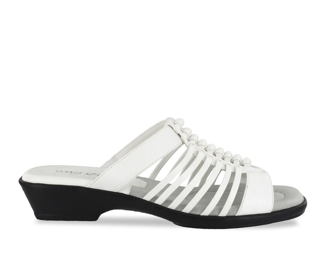 Easy Street Nola Women's Sandal (White Faux Leather)