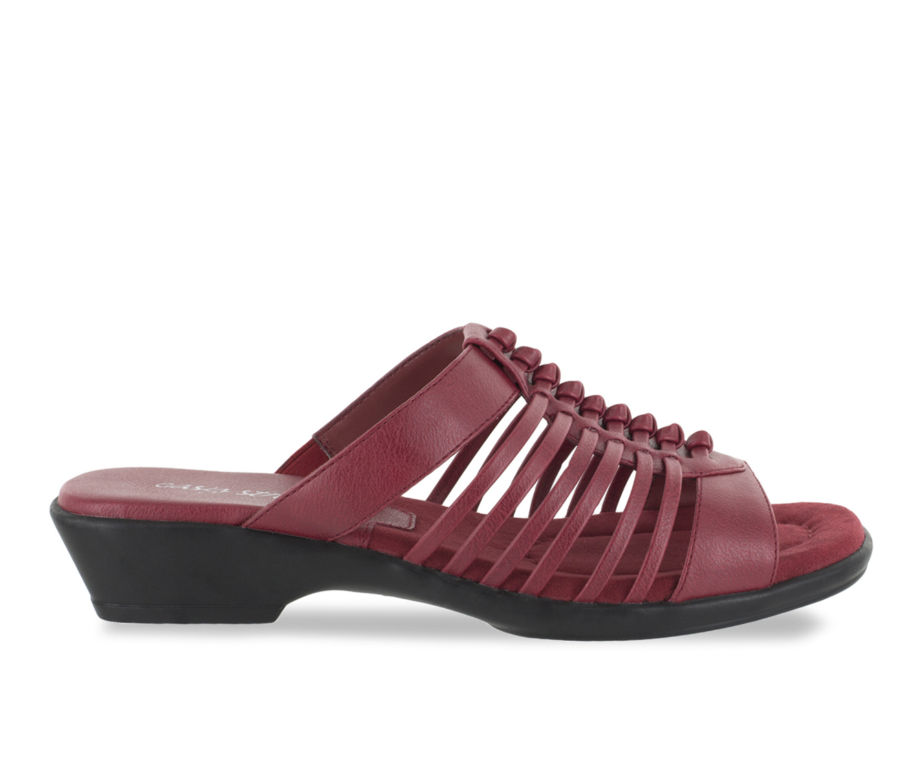 Easy Street Nola Women's Sandal (Red Faux Leather)