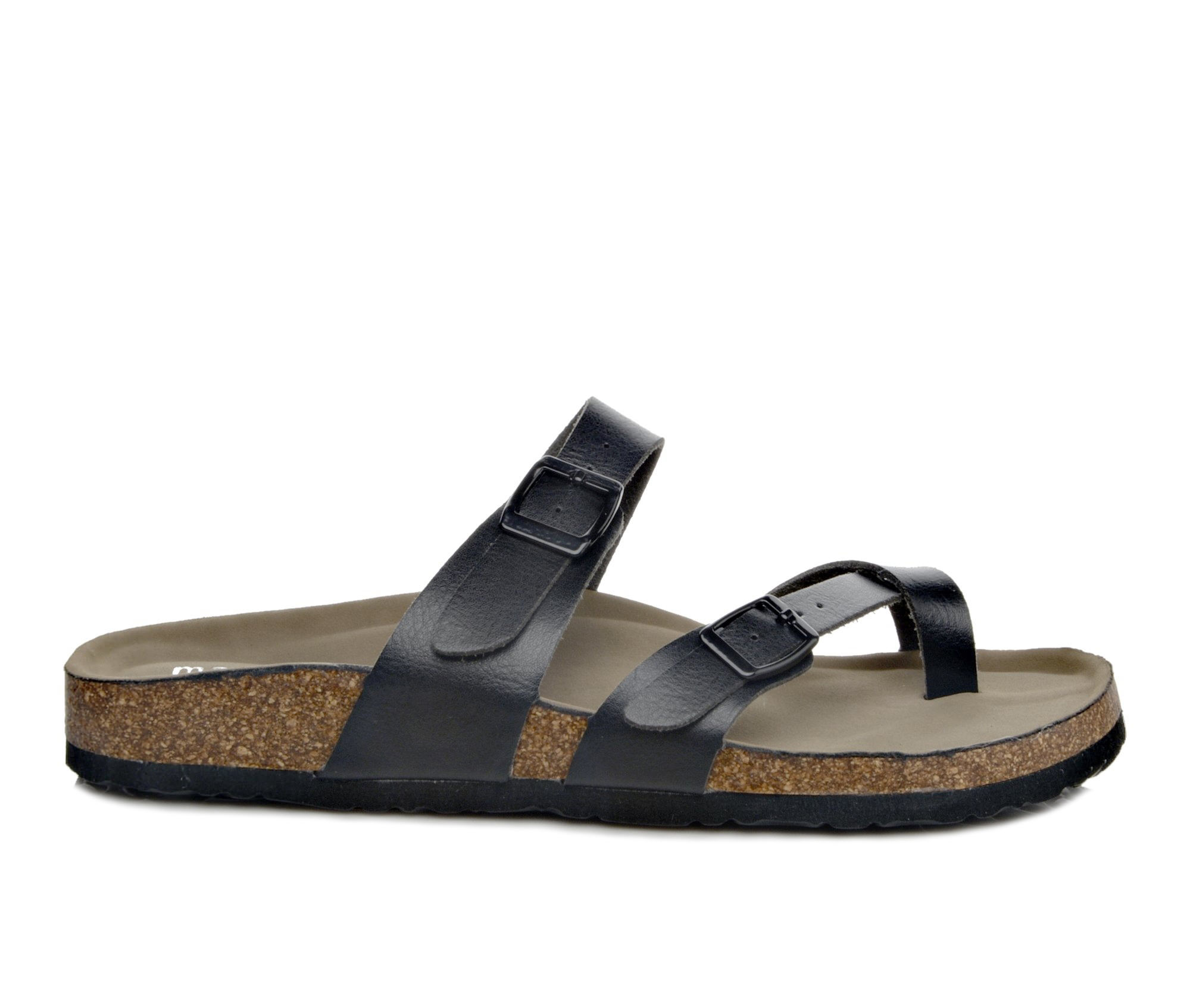 Madden Girl Bryceee Women's Sandal (Black Faux Leather)