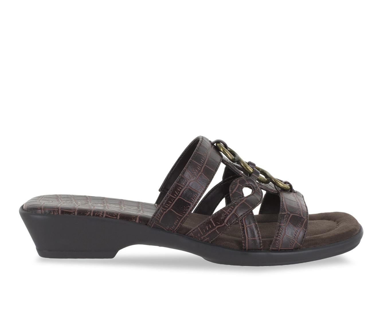 Easy Street Torrid Women's Sandal (Brown Faux Leather)